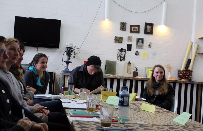 """Impressionen aus dem Workshop """"Zeit- & Selbstmanagement für Kreative"""" mit Coach Katja Petzrik in der Kalle Co-Werkstatt, am 07. März 2015"""