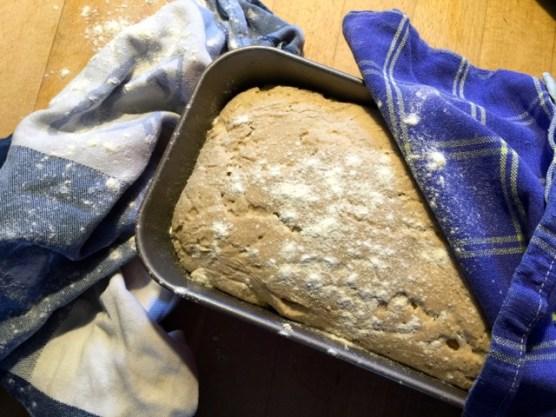 Klappt auch nur mit Roggenmehl als Brot.