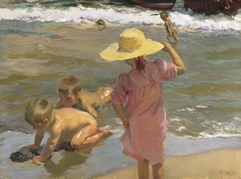 Joaquín-Sorolla: Kinder am Meeresufer, 1903, Öl auf Leinwand. Mit freundlicher Genehmigung des Philadelphia Museum of Art. Erworben mit Mitteln aus dem W.P. Wilsatach Fund, 1904