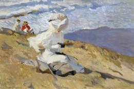 Joaquín Sorolla: Momentaufnahme. Biarritz 1906, Öl auf Leinwand, Madrid Museo Sorolla
