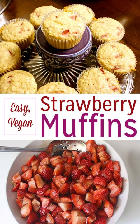 It's strawberry season! These simple vegan strawberry muffins are the perfect way to celebrate summer berries.