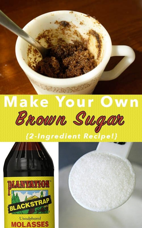 Guess what? You totally can make your own homemade brown sugar, and it's easy and delicious!