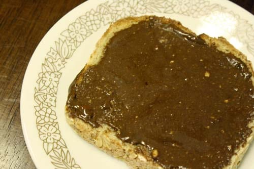 nutella on toast