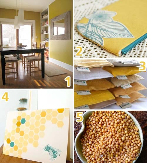 mustard yellow inspiration board