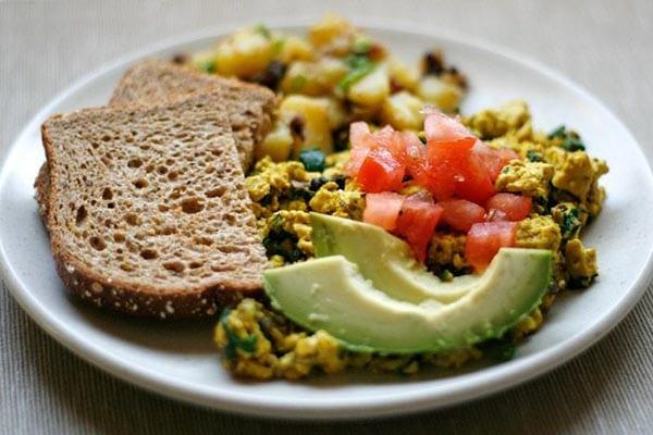 Tofu Scramble Breakfast from Well Vegan
