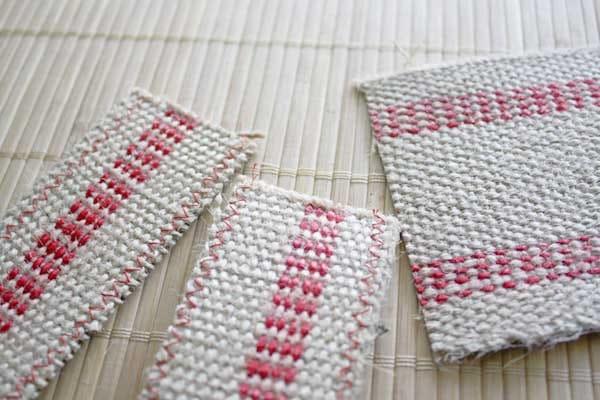webbing cut and sewn