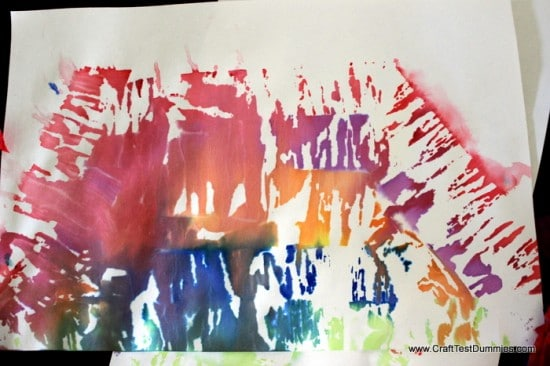 recycled watercolor rainbow