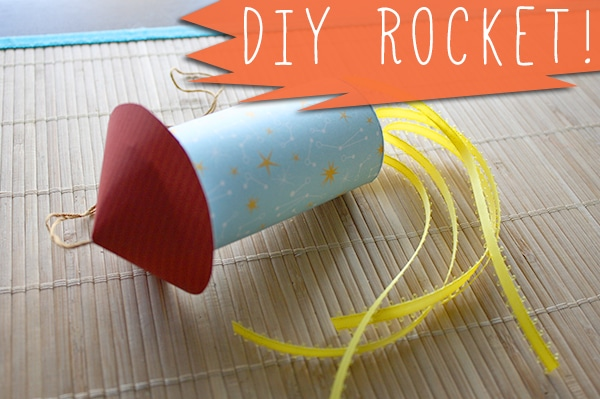 We made these awesome rockets at my crafty baby shower, and they were so fun to make, I thought I'd share how to make a rocket in case you want to make your own!