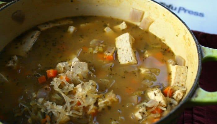 Vegetarian Chicken Noodle Soup Recipe