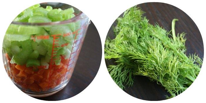 Vegetarian Chicken Noodle Soup Veggies