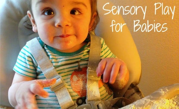 My 8-month-old was totally into this sensory play activity for almost an hour!