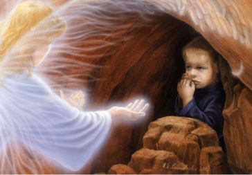 Engel hilft Kind