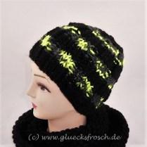 mütze schwarz neongelb
