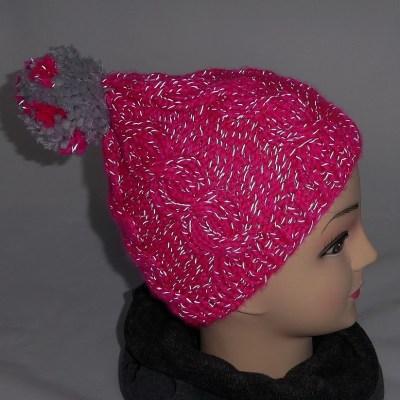 Mütze pink, reflektiert