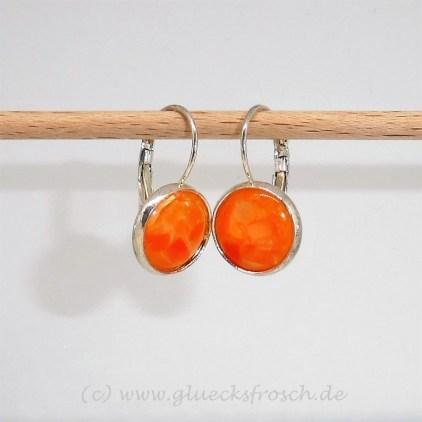 Ohrringe orange resin