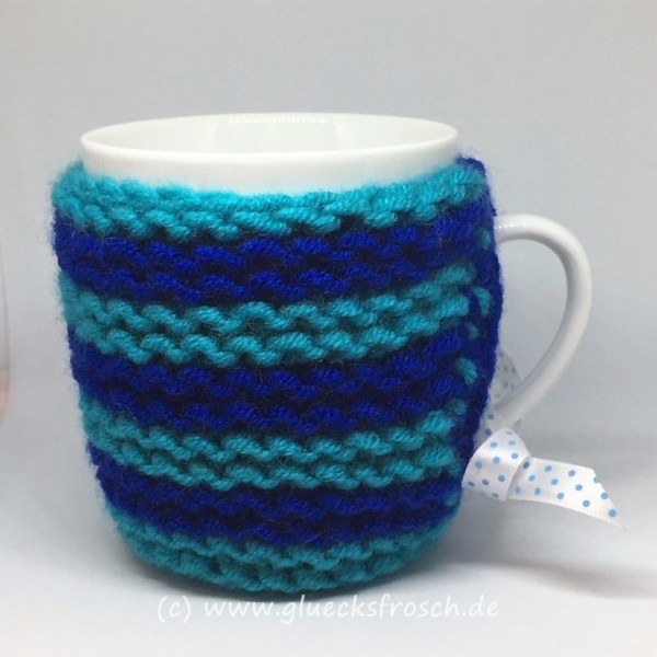 Tassenwärmer, blau, türkis