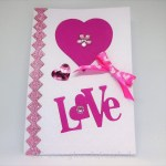 Karte Love pink