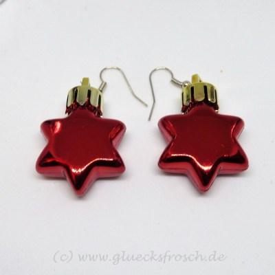 roter Weihnachtsstern Ohrschmuck