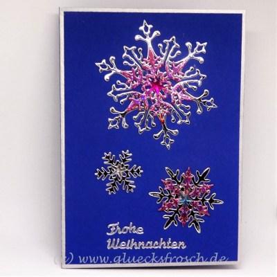 Weihnachtskarte blau 2