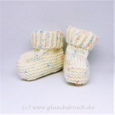 Babyschuhe weiß zartes muster
