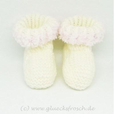 Babyschuh weiß rosa