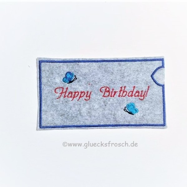Schokoladenhülle Happy Birthday