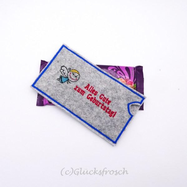 Schokolandenhülle Schutzengel Alles Gute zum Geburtstag