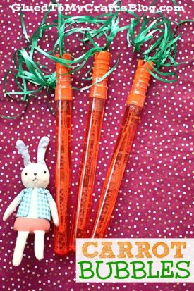 Carrot Bubble Favors For Easter Baskets