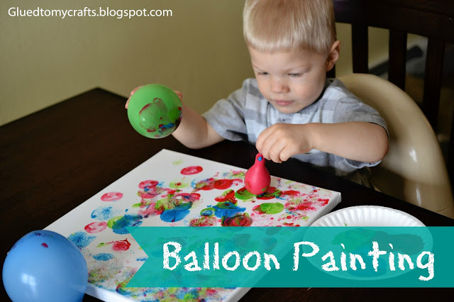 Balloon Painting #toddler #craft