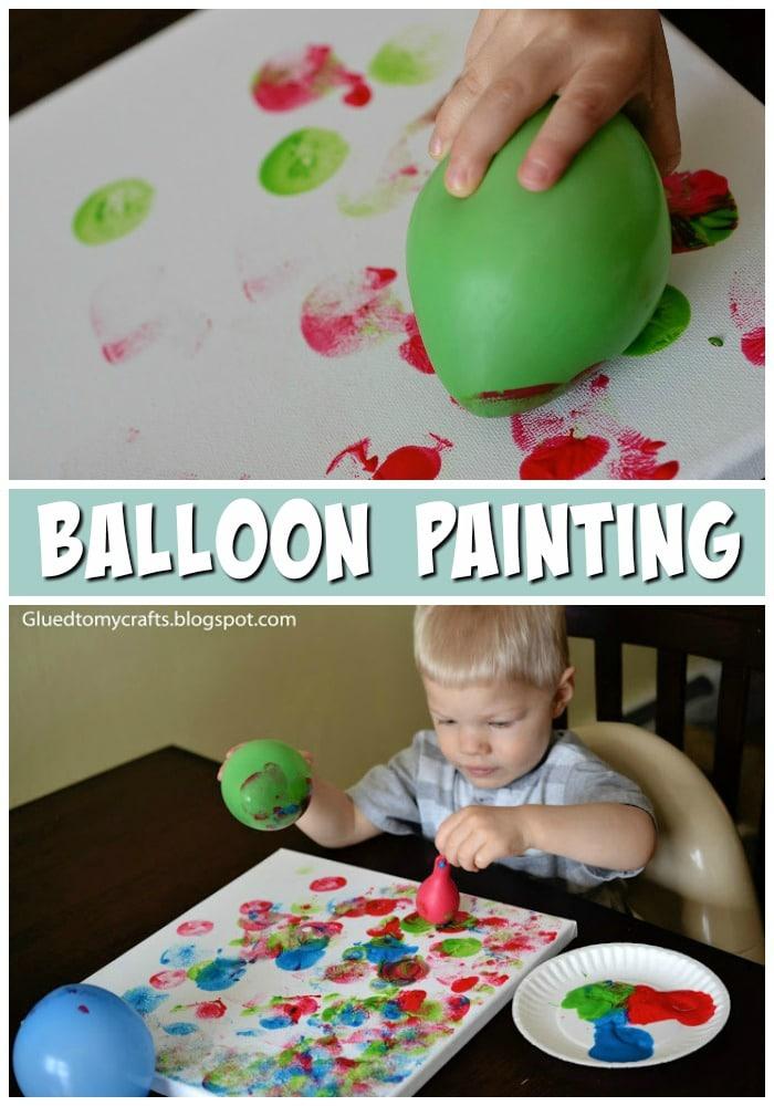 Balloon Painting {Toddler Craft}