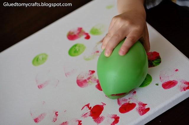 Balloon Painting #toddler #craft