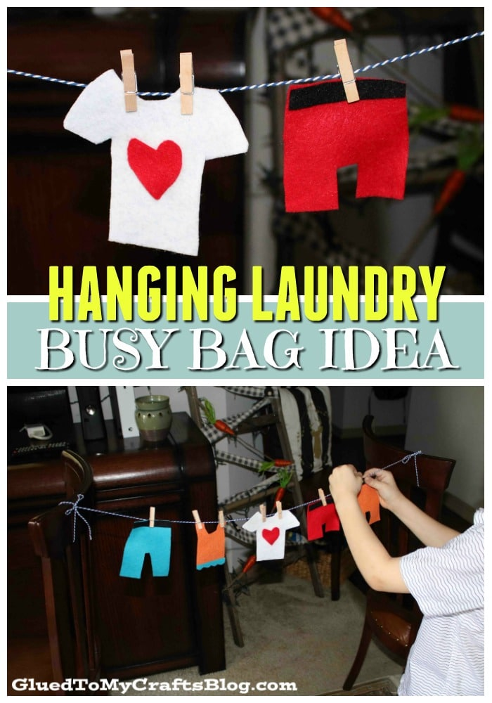 Busy Bag - Hanging Clothes Activity