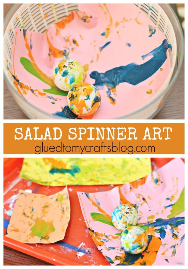 Salad Spinner Art {Kid Craft}