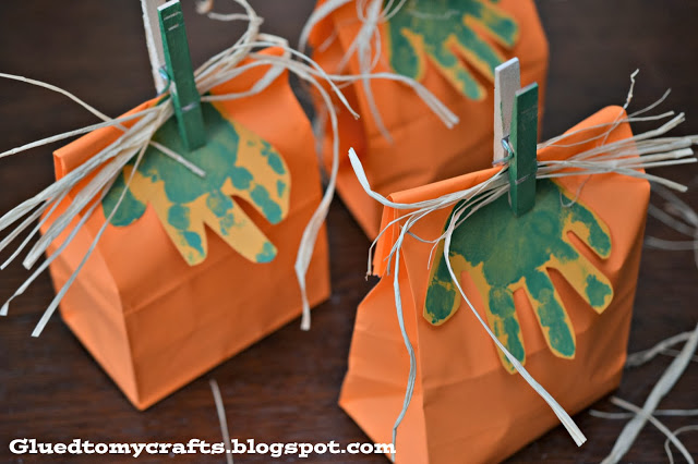 Pumpkin Gift Bags {Craft}
