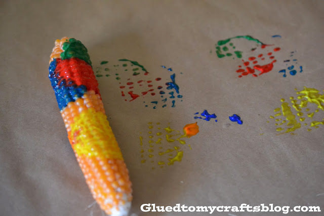 Indian Corn Painting {Kid Craft}
