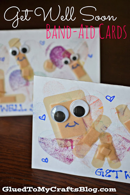 Get Well Soon - Band-aid Cards {Kid Craft}