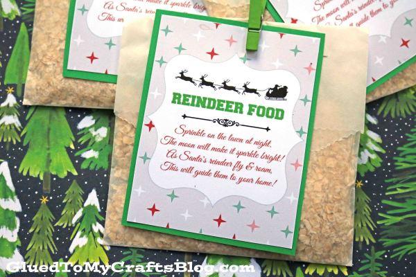 Reindeer Food Craft w/Free Gift Tag Printable