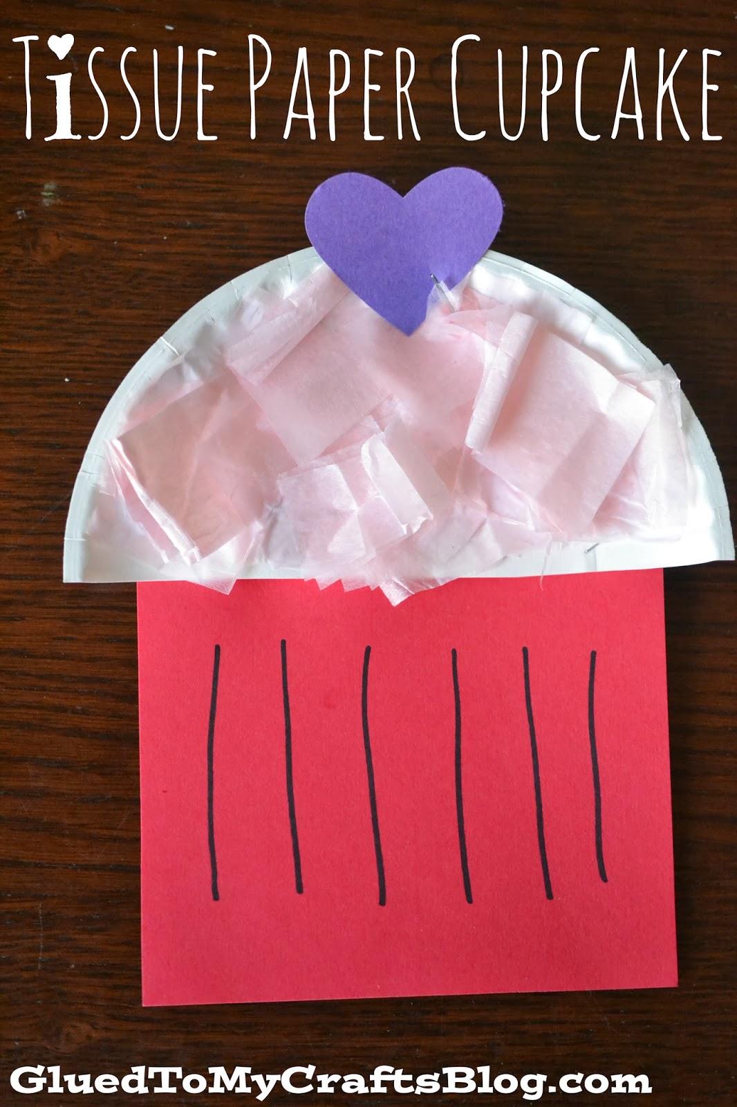 Paper cupcake kid craft tissue paper cupcake kid craft jeuxipadfo Gallery