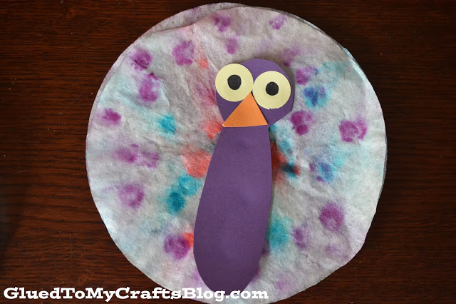 Coffee Filter Peacock {Kid Craft}
