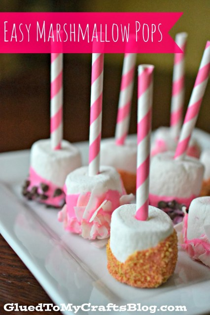 Easy Marshmallow Pops {Valentine Treats}