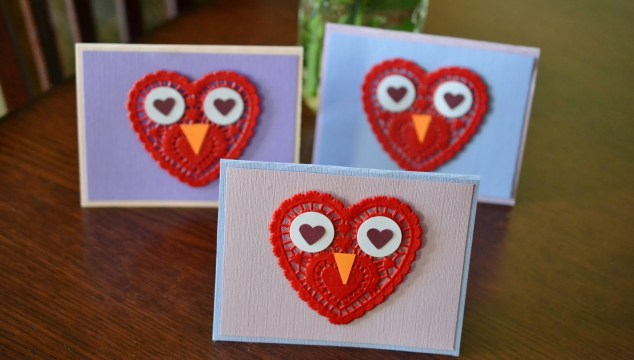 Easy Paper Doily Owl Cards