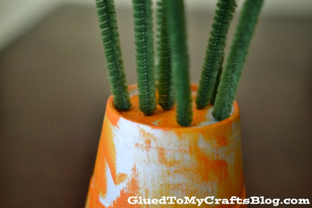 Styrofoam Carrot {Kid Craft}