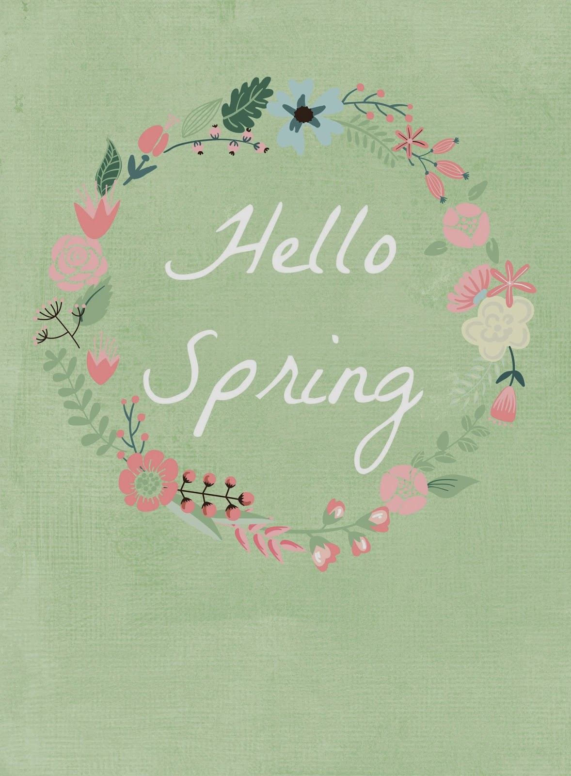 Welcome Spring W Four Free Printables