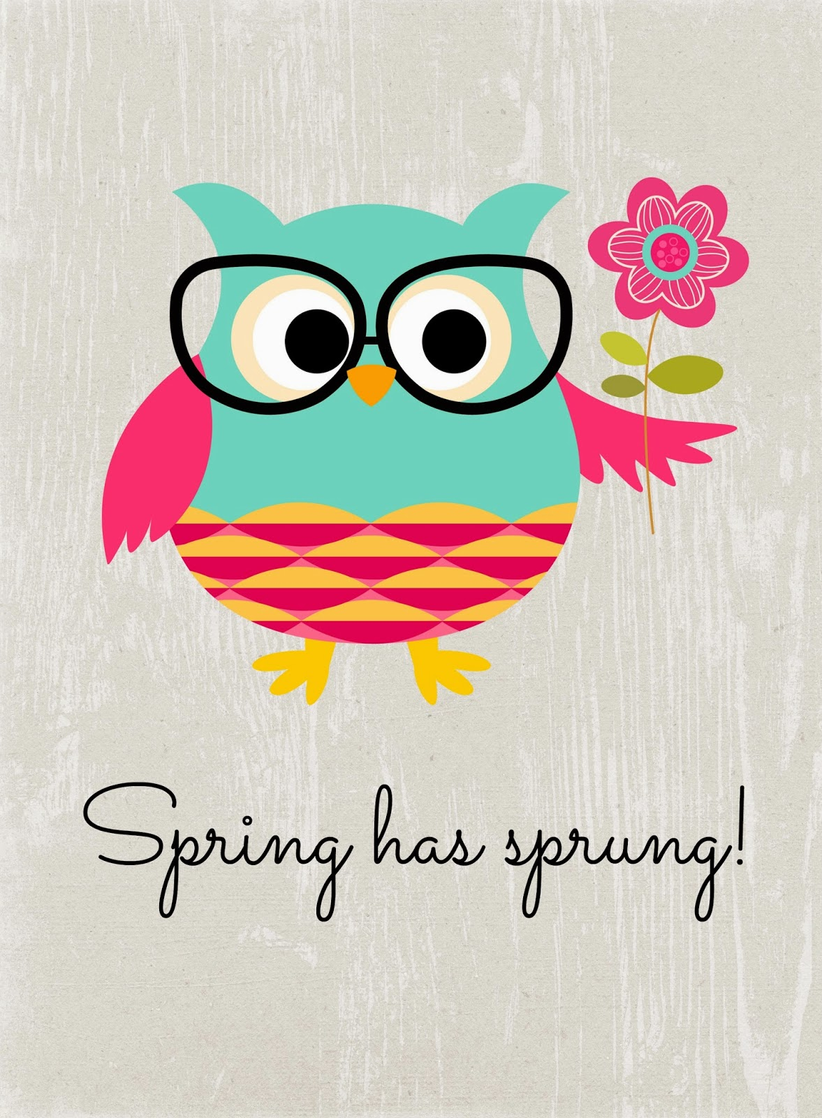 Welcome Spring w/Four Free Printables