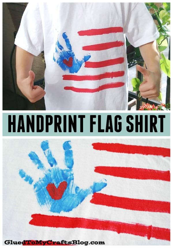 Handprint Flag Shirt