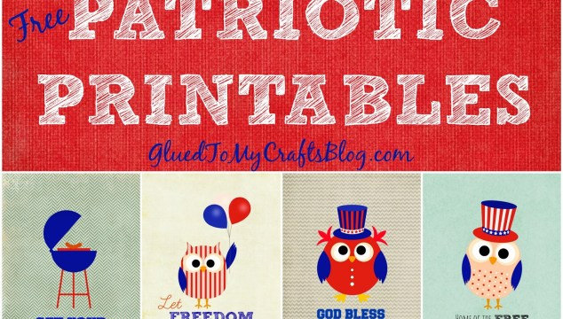 Free Owl Themed Patriotic Printables