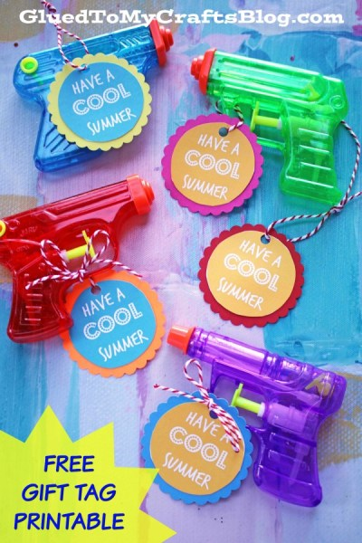 Have A Cool Summer - Squirt Gun Gift Tags Printable