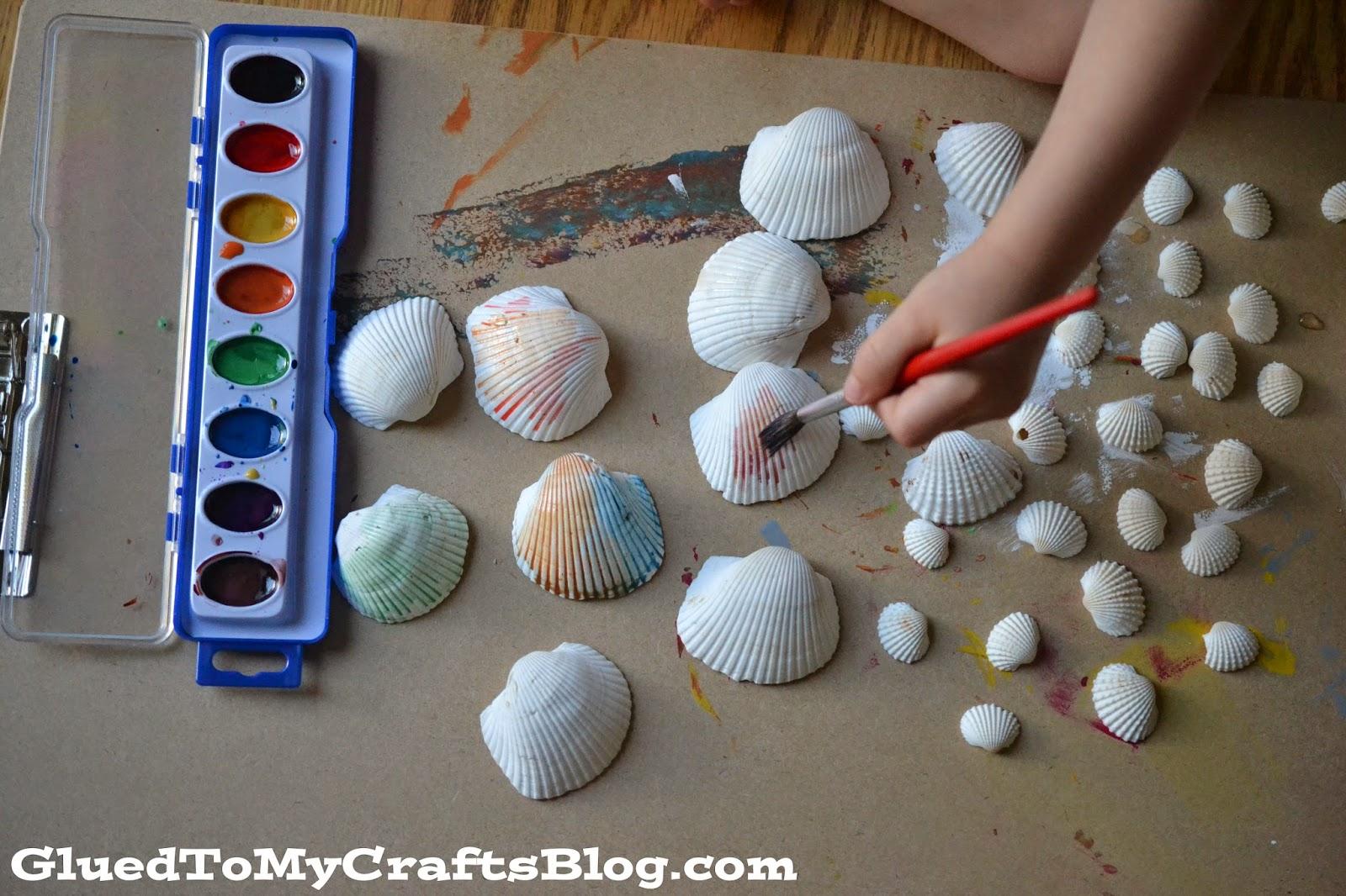 Watercolor Seashell Frame