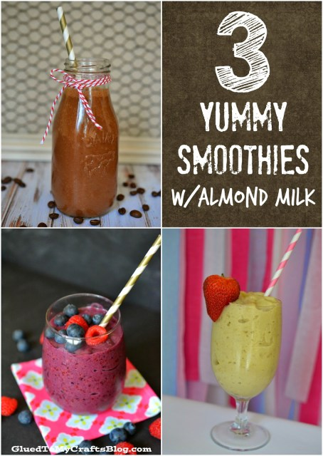 3 Yummy Smoothies With Almond Milk {Recipes}