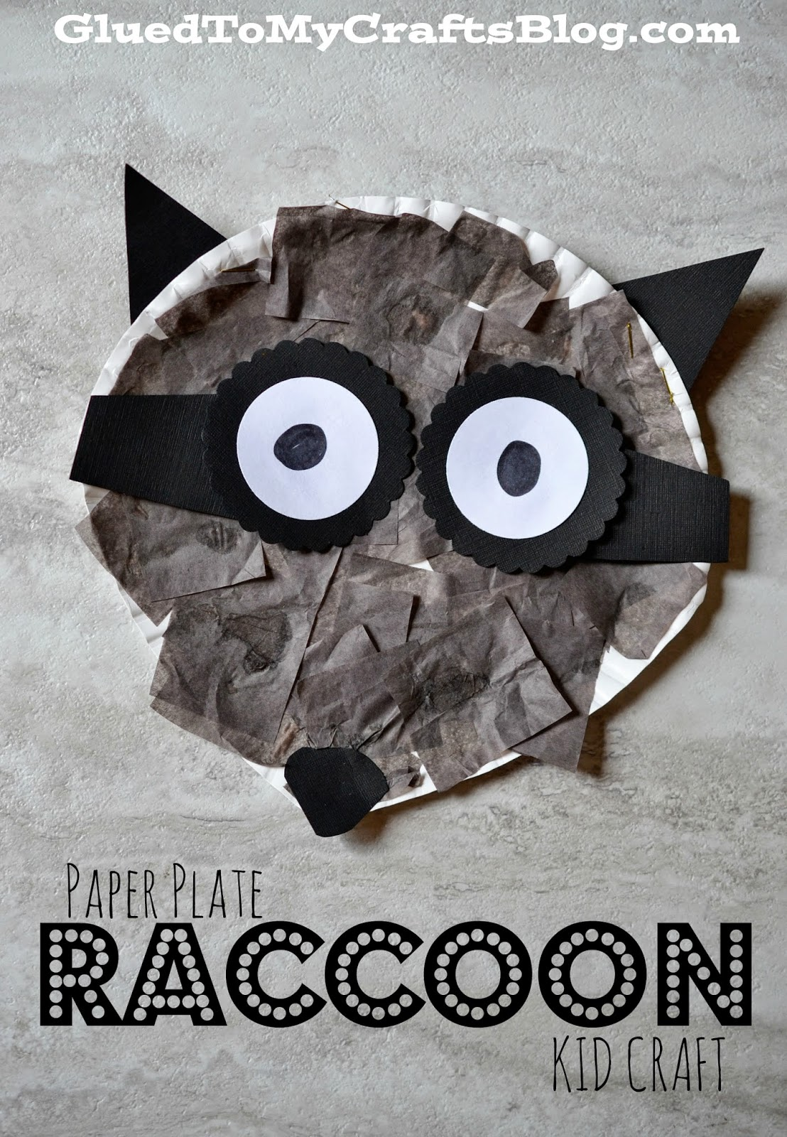 Paper Plate Raccoon Kid Craft